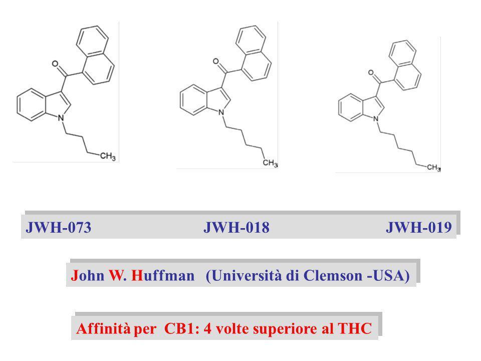 JWH-073 JWH-018 JWH-019 John W. Huffman (Università di Clemson -USA)