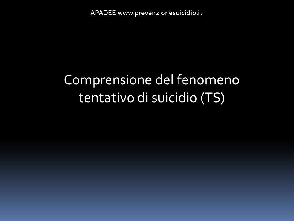 Comprensione del fenomeno tentativo di suicidio (TS)