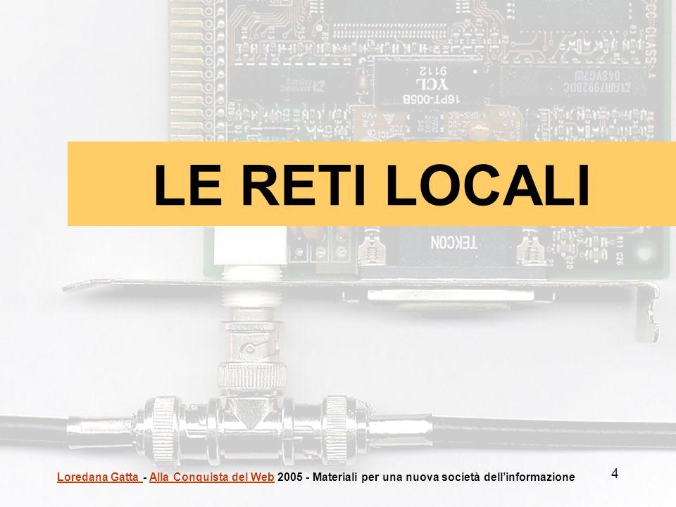 LE RETI LOCALI Loredana Gatta - Alla Conquista del Web 2005 - Materiali per una nuova società dell'informazione.