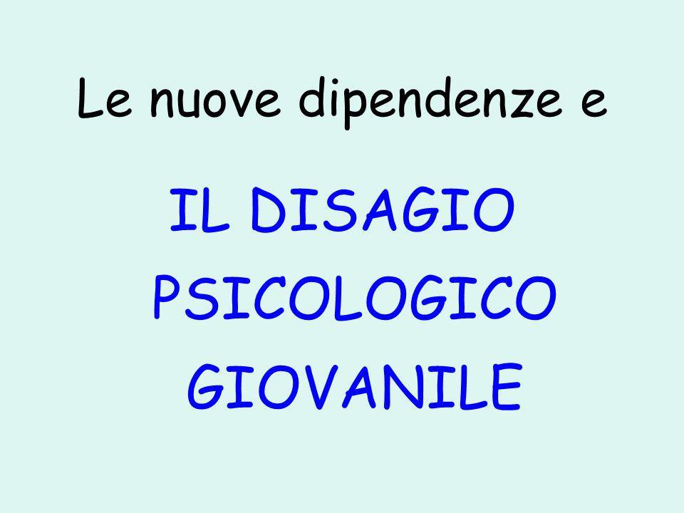 IL DISAGIO PSICOLOGICO GIOVANILE
