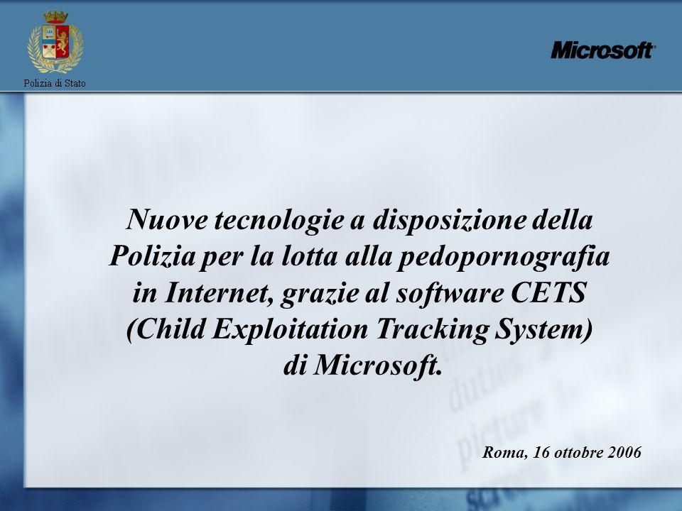 Nuove tecnologie a disposizione della Polizia per la lotta alla pedopornografia in Internet, grazie al software CETS (Child Exploitation Tracking System)