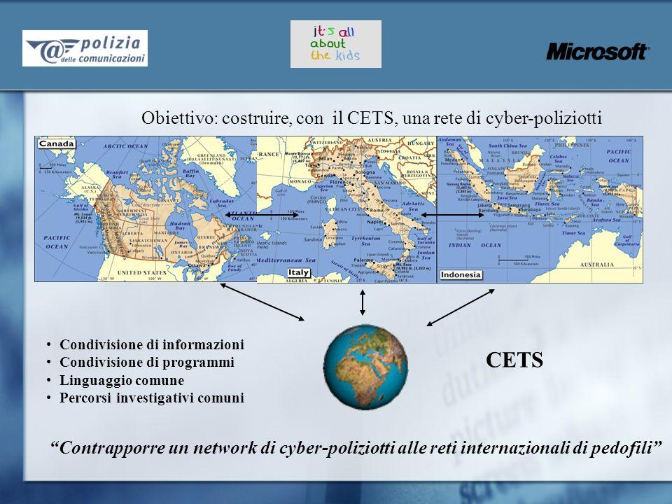 CETS Obiettivo: costruire, con il CETS, una rete di cyber-poliziotti