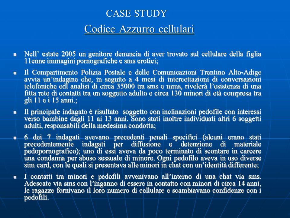 Codice Azzurro cellulari