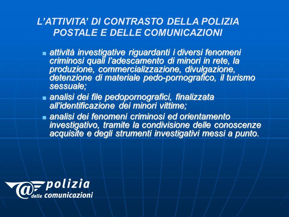 L'ATTIVITA' DI CONTRASTO DELLA POLIZIA POSTALE E DELLE COMUNICAZIONI
