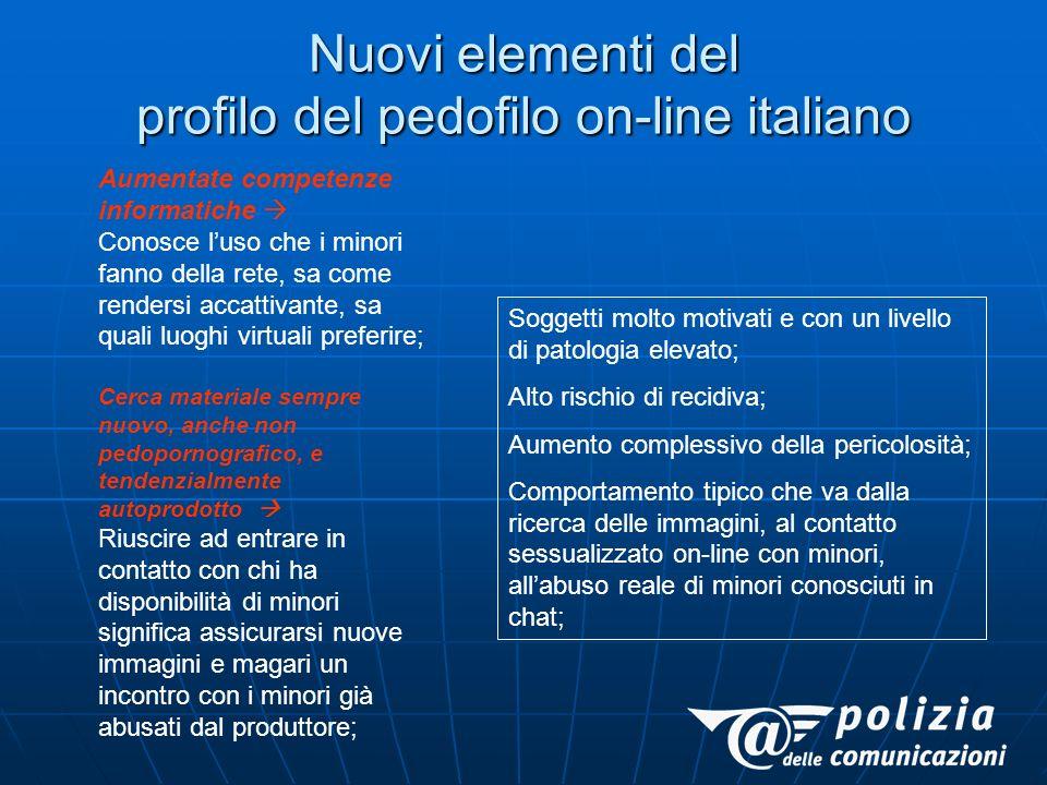 Nuovi elementi del profilo del pedofilo on-line italiano