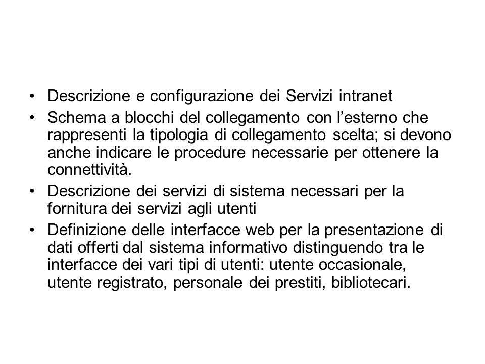 Descrizione e configurazione dei Servizi intranet