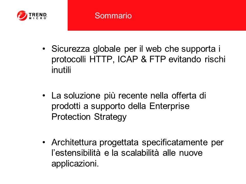 Sommario Sicurezza globale per il web che supporta i protocolli HTTP, ICAP & FTP evitando rischi inutili.
