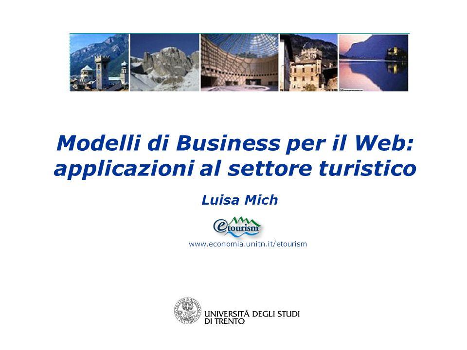 Modelli di Business per il Web: applicazioni al settore turistico