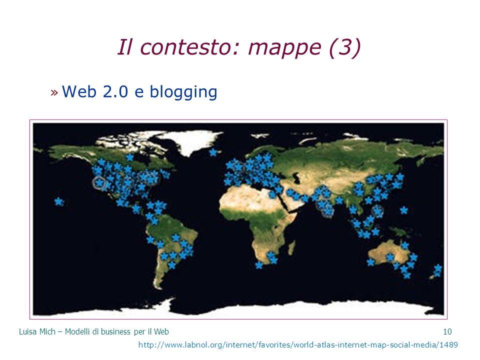 Il contesto: mappe (3) Web 2.0 e blogging 29/03/2017