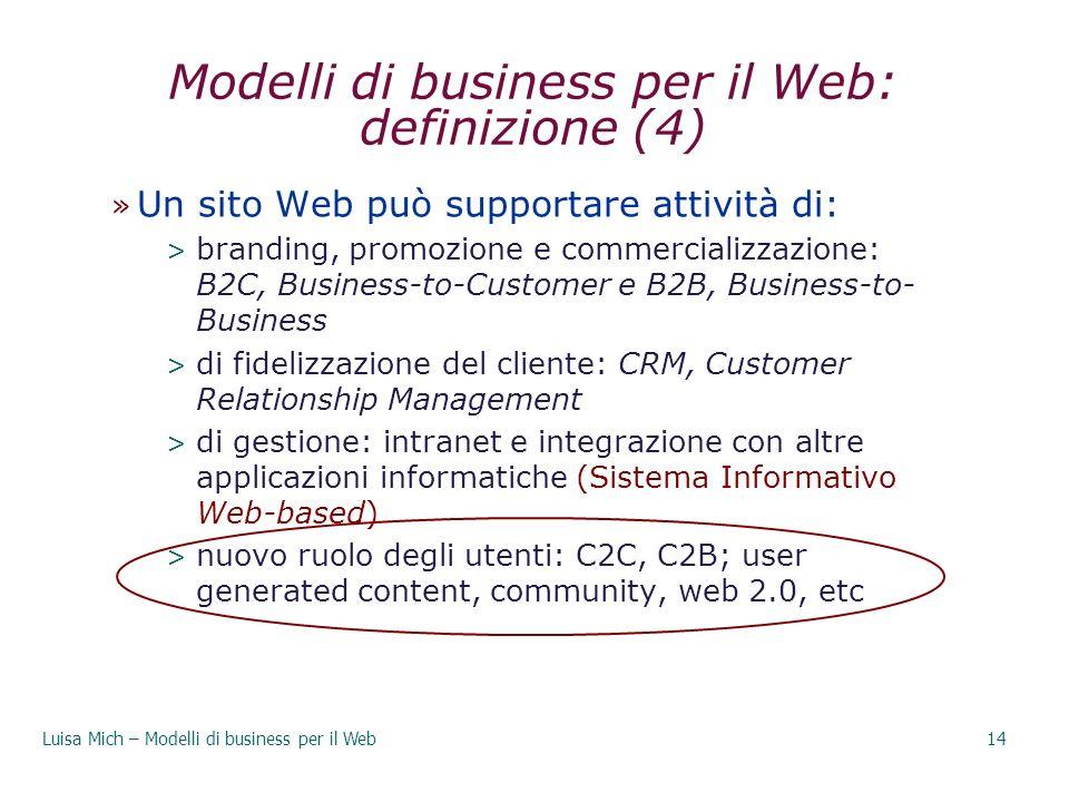Modelli di business per il Web: definizione (4)