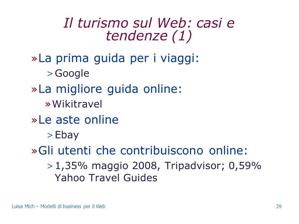 Il turismo sul Web: casi e tendenze (1)