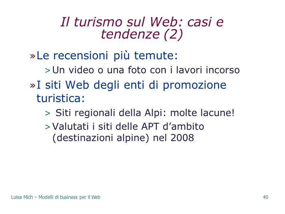 Il turismo sul Web: casi e tendenze (2)
