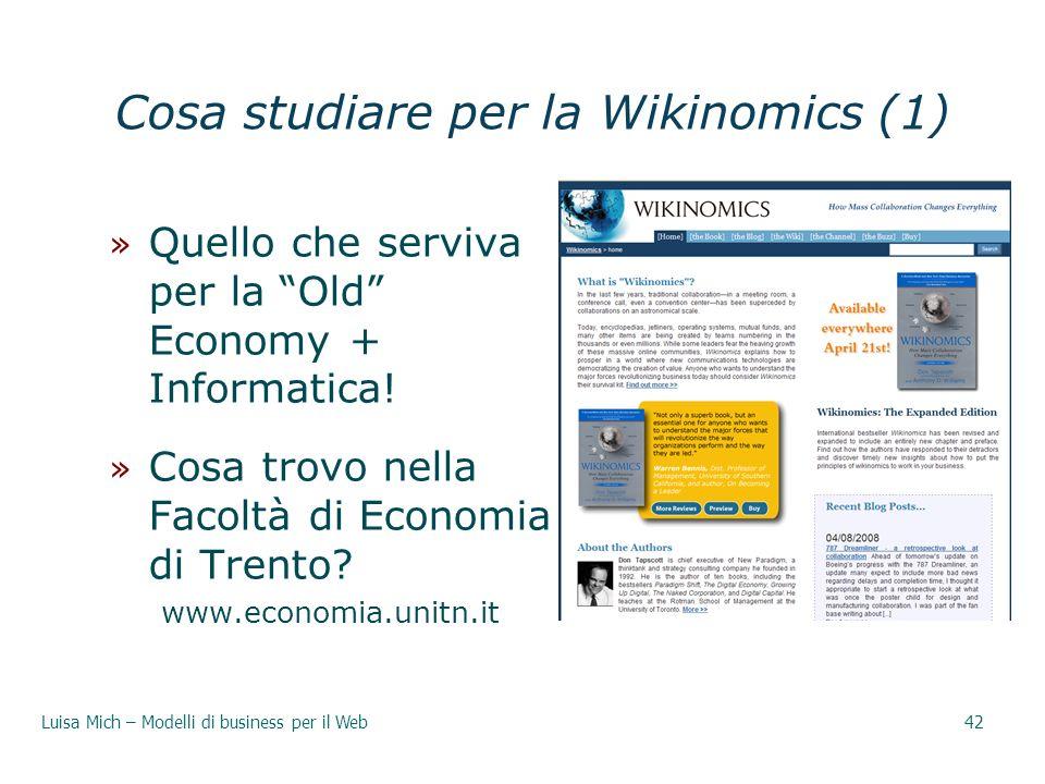 Cosa studiare per la Wikinomics (1)