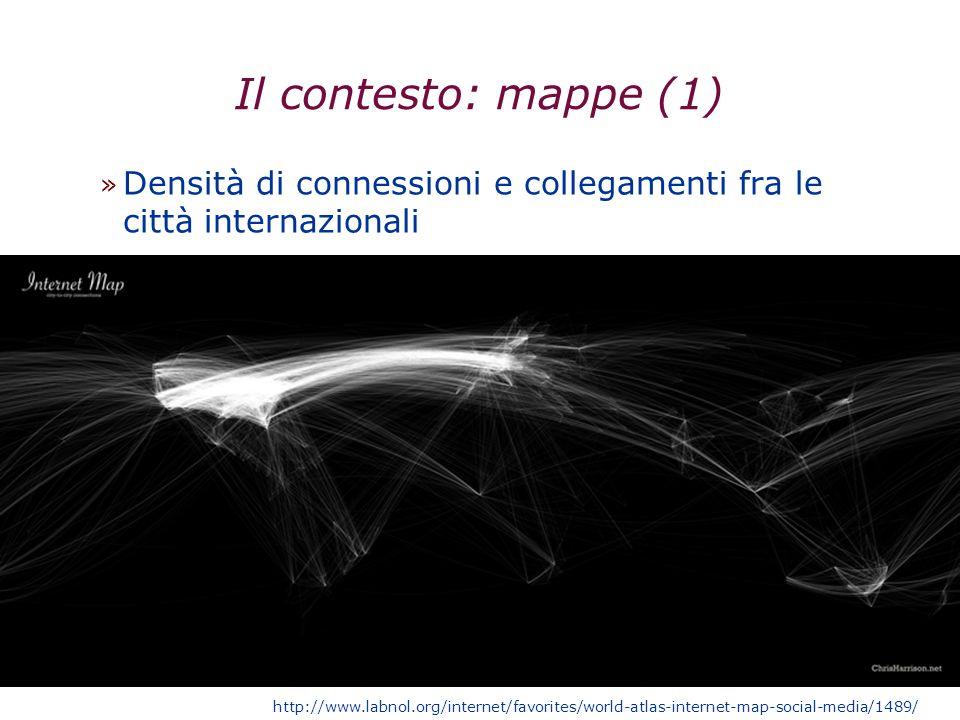 29/03/2017 Il contesto: mappe (1) Densità di connessioni e collegamenti fra le città internazionali.