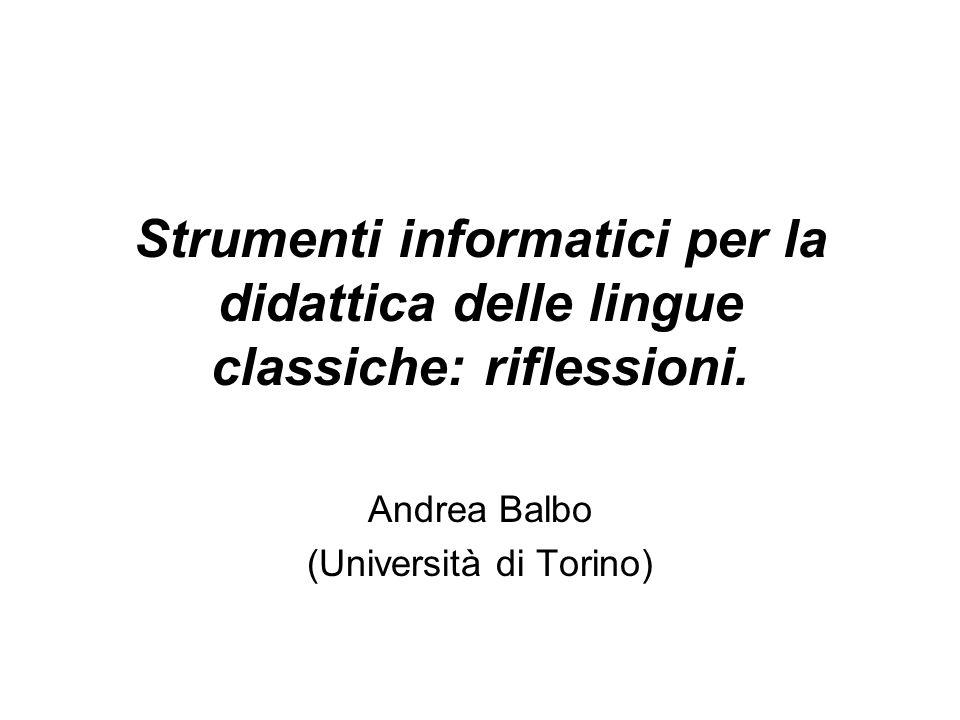 Andrea Balbo (Università di Torino)