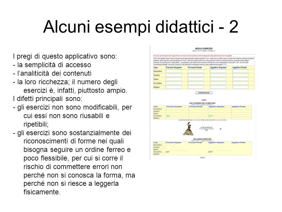 Alcuni esempi didattici - 2