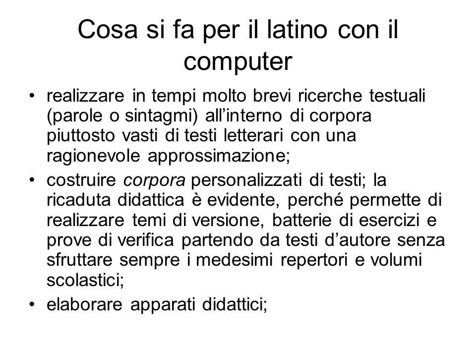 Cosa si fa per il latino con il computer
