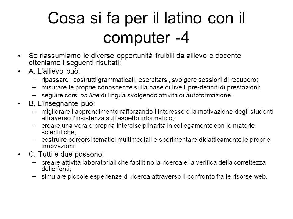 Cosa si fa per il latino con il computer -4