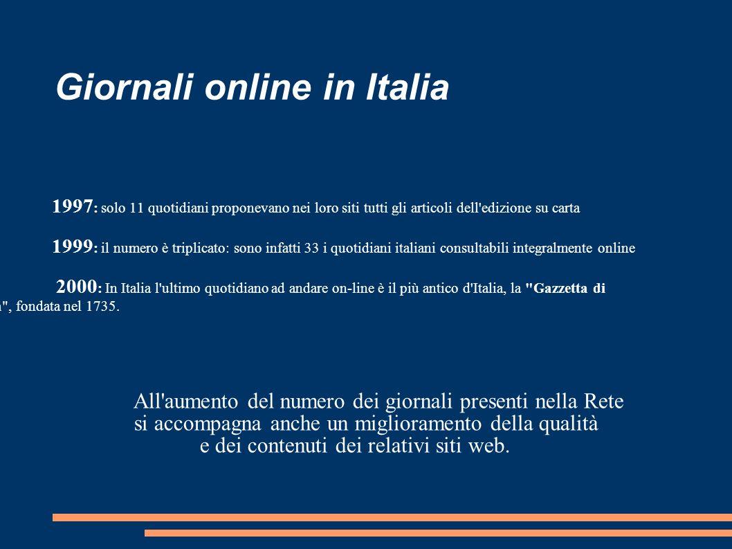 Giornali online in Italia