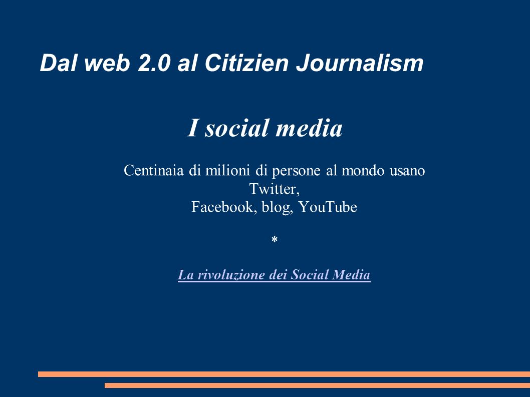 Dal web 2.0 al Citizien Journalism