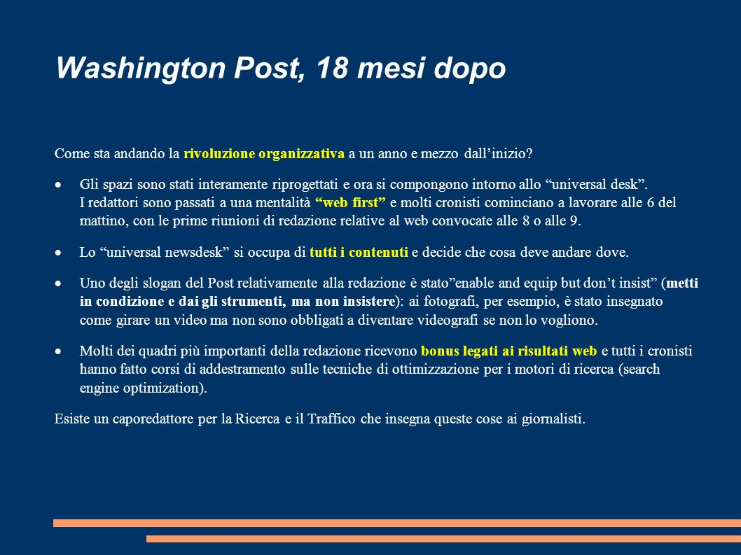Washington Post, 18 mesi dopo