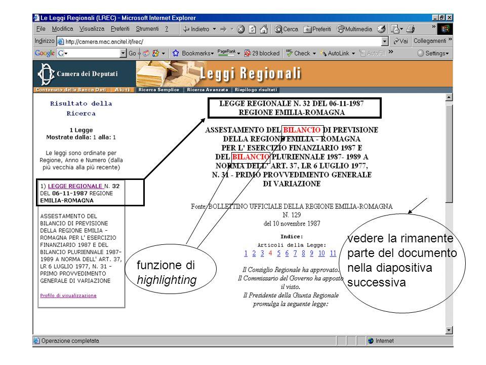 vedere la rimanente parte del documento nella diapositiva successiva