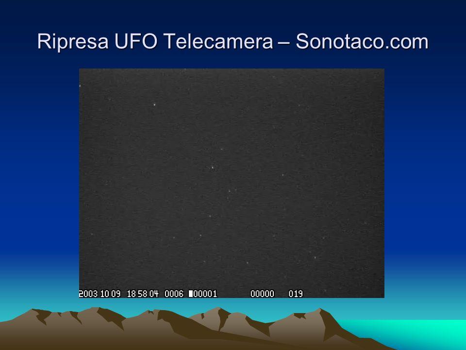 Ripresa UFO Telecamera – Sonotaco.com