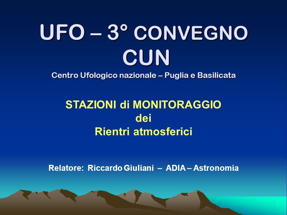 UFO – 3° CONVEGNO CUN Centro Ufologico nazionale – Puglia e Basilicata