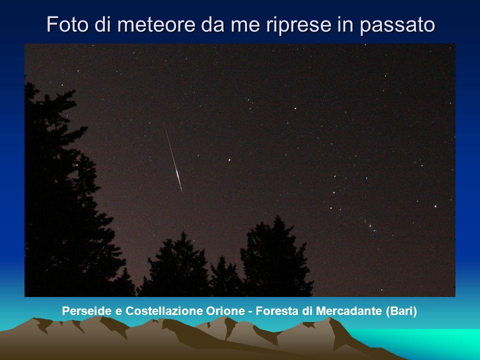 Foto di meteore da me riprese in passato