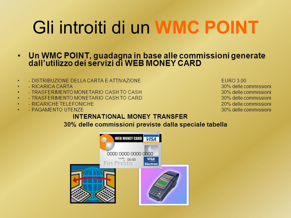 Gli introiti di un WMC POINT