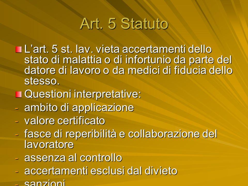 Art. 5 Statuto