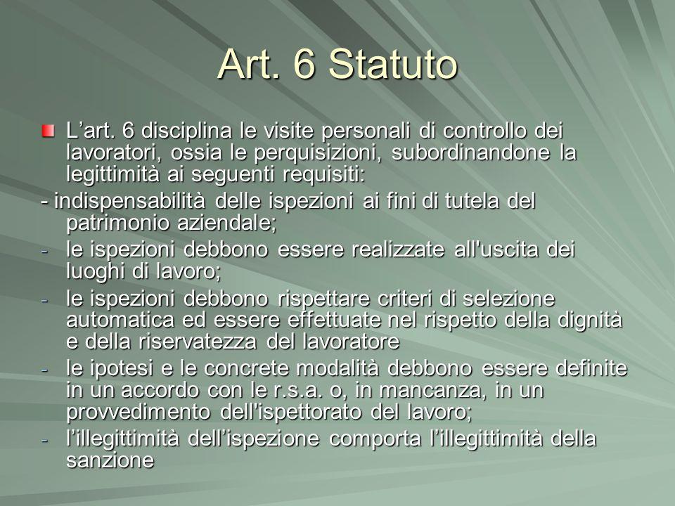 Art. 6 Statuto