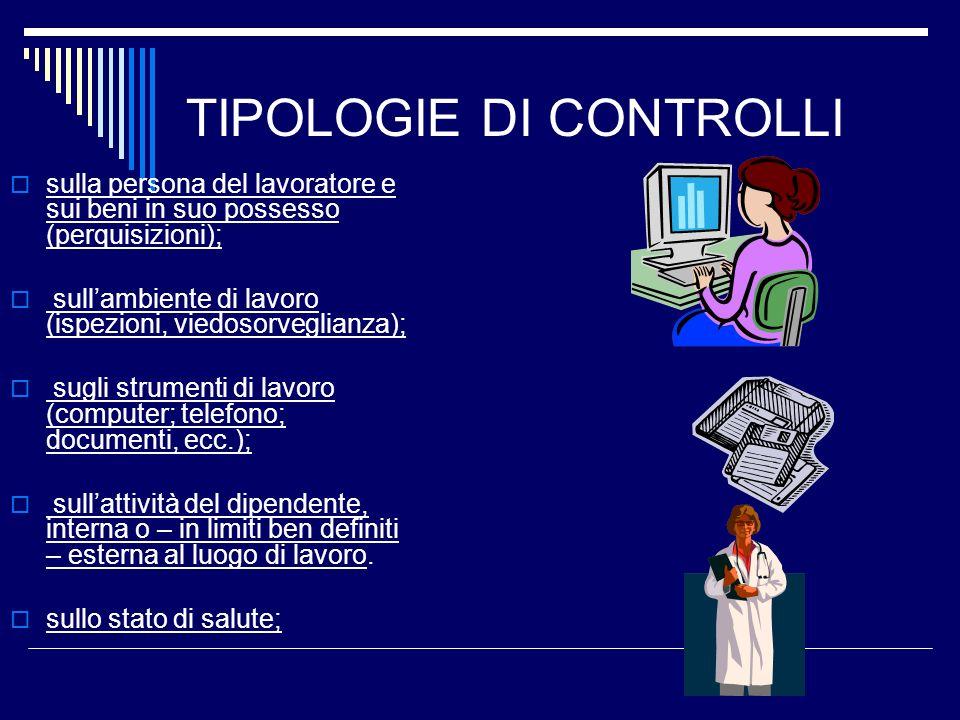 TIPOLOGIE DI CONTROLLI