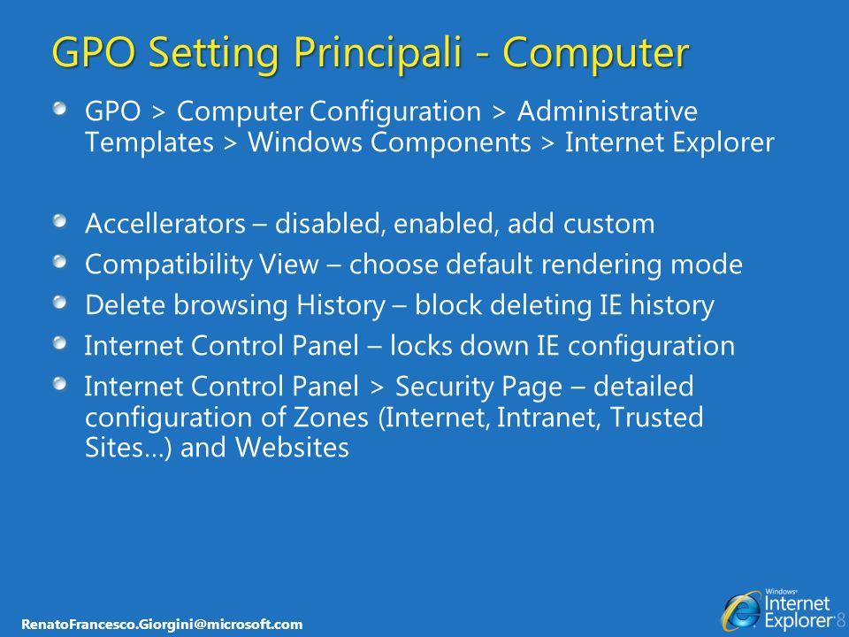 GPO Setting Principali - Computer