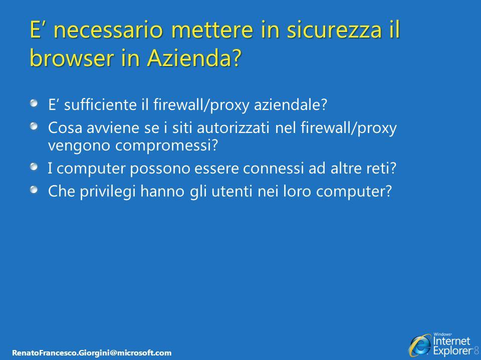 E' necessario mettere in sicurezza il browser in Azienda