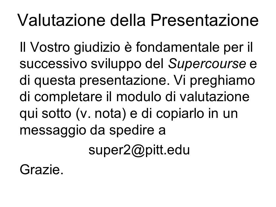 Valutazione della Presentazione