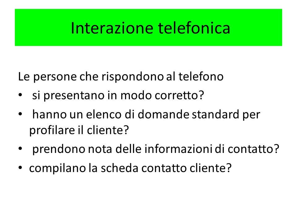 Interazione telefonica