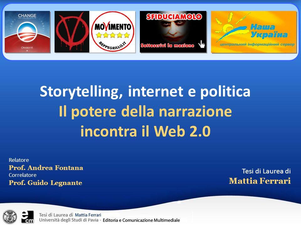 Storytelling, internet e politica
