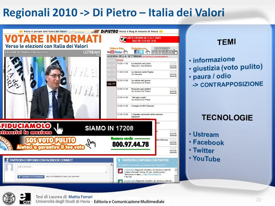 Regionali 2010 -> Di Pietro – Italia dei Valori