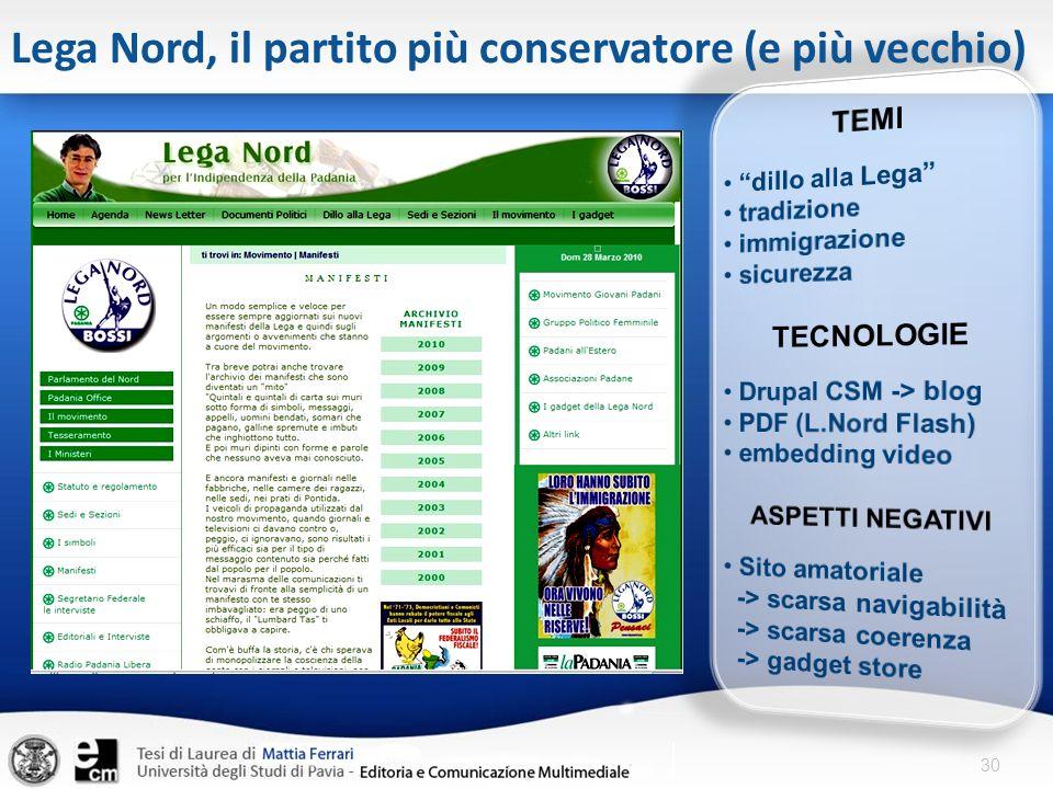 Lega Nord, il partito più conservatore (e più vecchio)