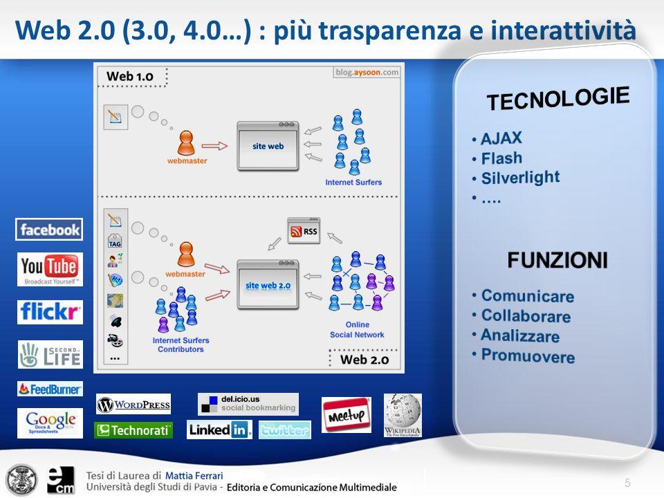 Web 2.0 (3.0, 4.0…) : più trasparenza e interattività