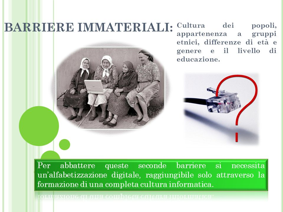 BARRIERE IMMATERIALI: