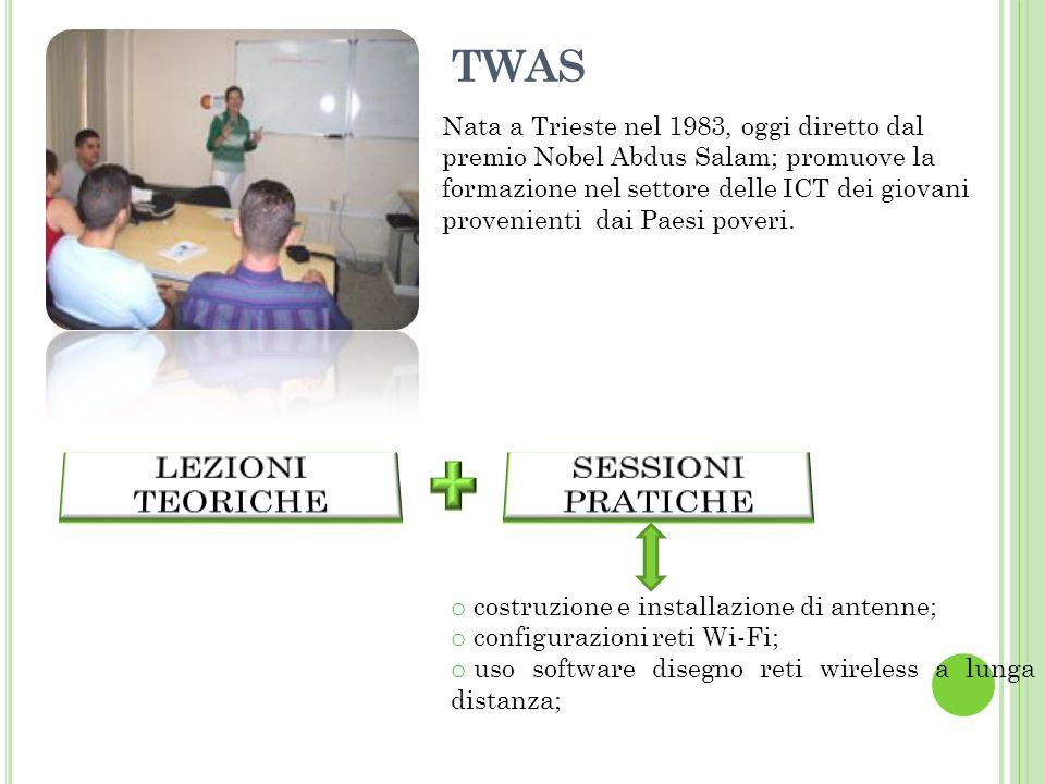 TWAS LEZIONI TEORICHE SESSIONI PRATICHE
