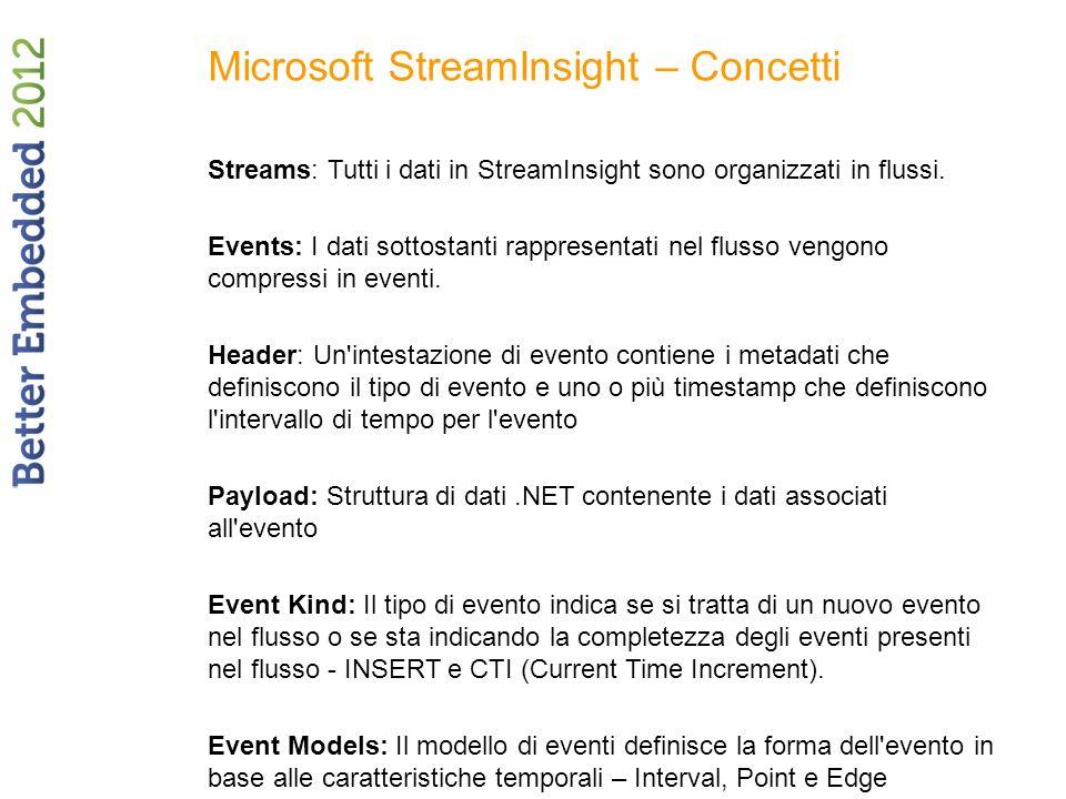 Microsoft StreamInsight – Concetti