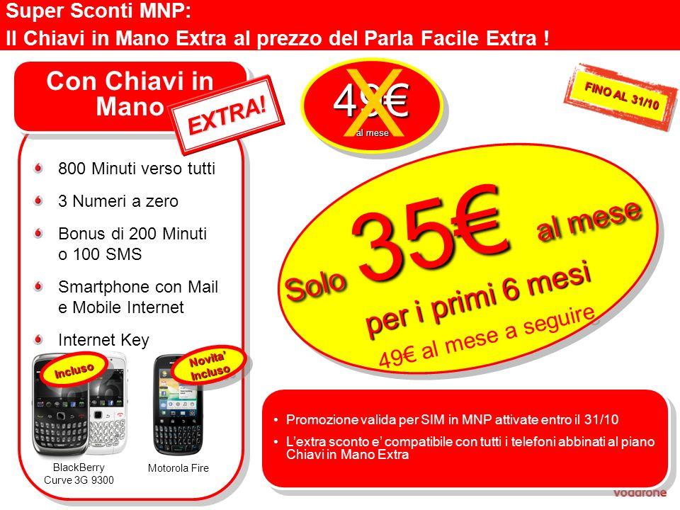 X 49€ Solo 35€ al mese per i primi 6 mesi Con Chiavi in Mano EXTRA!