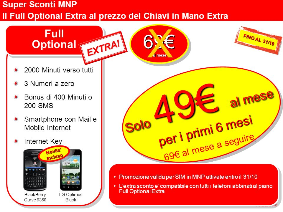 X 69€ Solo 49€ al mese per i primi 6 mesi Full Optional EXTRA!