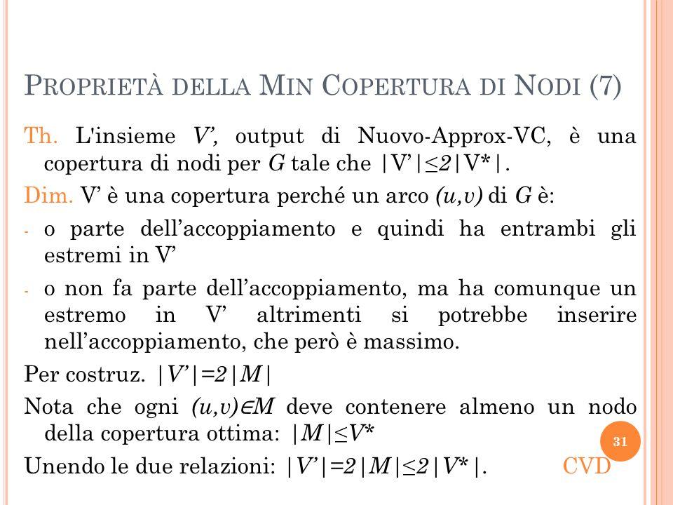 Proprietà della Min Copertura di Nodi (7)