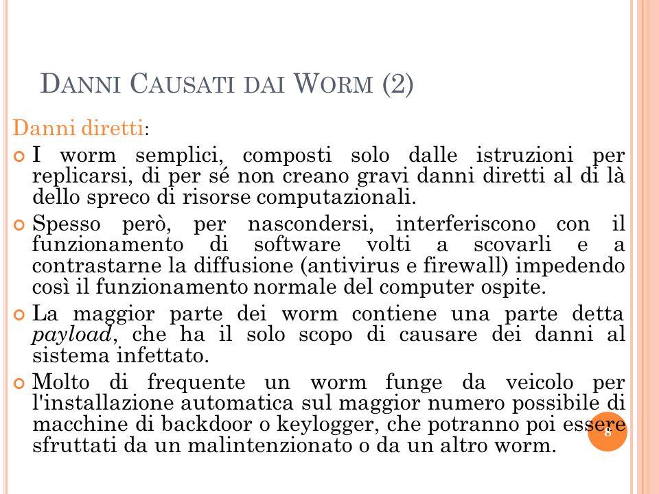 Danni Causati dai Worm (2)
