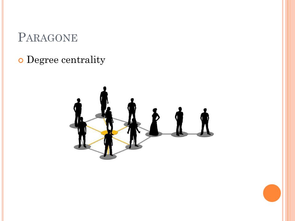 Paragone Degree centrality
