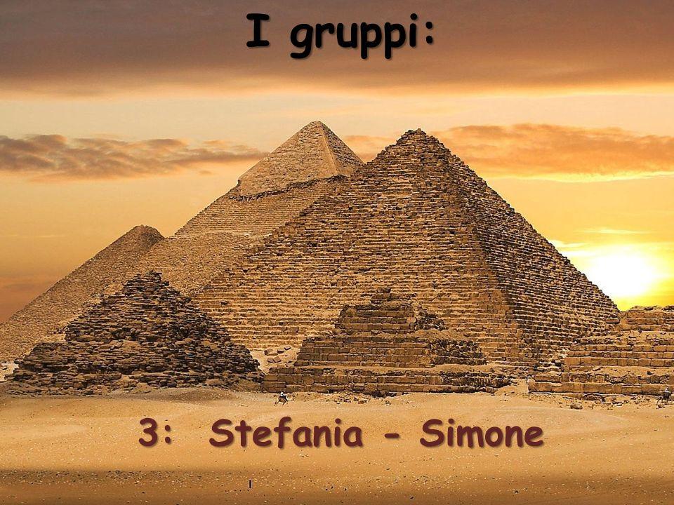 I gruppi: 3: Stefania - Simone